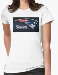 new england patriots logo Womens Fitted T-Shirt