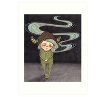 Sad Little Gnome Girl Art Print