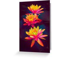 Three Waterlilies Greeting Card