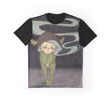 Sad Little Gnome Girl Graphic T-Shirt