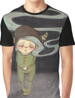 Sad Little Gnome Girl Graphic T-Shirt