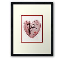 Sacred Love - Colored Pencil Heart Drawing Framed Print