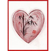 Sacred Love - Colored Pencil Heart Drawing Photographic Print