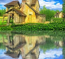 Queen Marie-Antoinette Hamlet Cottage Versailles Paris France by Beverly Claire Kaiya