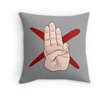 Three Finger Salute Throw Pillow