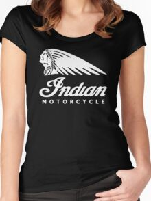 Indian Motorcycle Classic Logo Women's Fitted Scoop T-Shirt