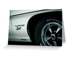 Pontiac Le MANS 350 Greeting Card