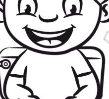 wc loo little boy sitting joy Sticker