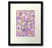 On to you. Framed Print