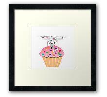 Cute Cupcake Drone Framed Print