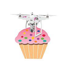 Cute Cupcake Drone Photographic Print