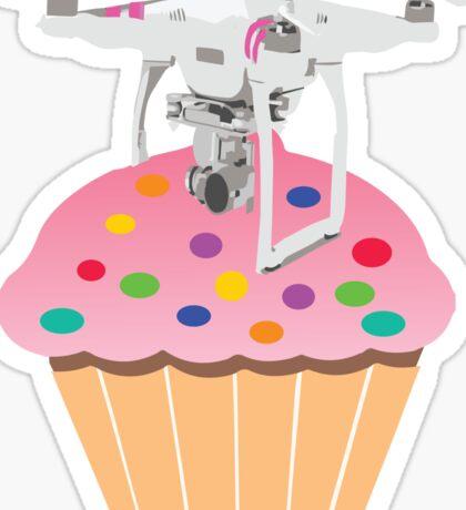 Cute Cupcake Drone Sticker