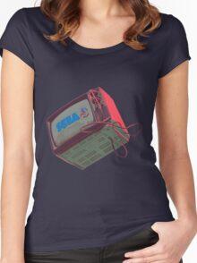 RETRO CRT - SEGA Sonic Women's Fitted Scoop T-Shirt