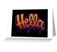 HELLA -SF in black Greeting Card
