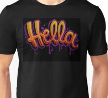 HELLA -SF in black Unisex T-Shirt
