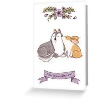 Dogginshield  Love 01 Greeting Card