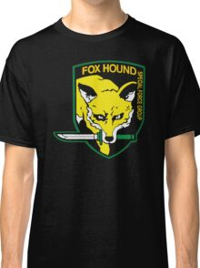 Metal Gear Solid Fox Hound Badge Special Forces Group Logo Classic T-Shirt