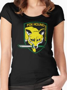Metal Gear Solid Fox Hound Badge Special Forces Group Logo Women's Fitted Scoop T-Shirt