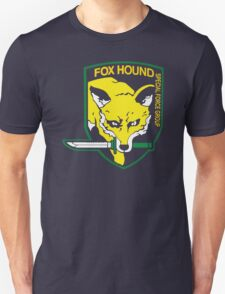 Metal Gear Solid Fox Hound Badge Special Forces Group Logo Unisex T-Shirt