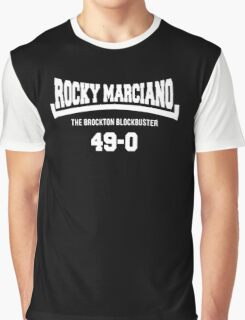 Rocky Marciano The Brooklyn Blockbuster 49-0 Logo Graphic T-Shirt