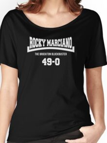 Rocky Marciano The Brooklyn Blockbuster 49-0 Logo Women's Relaxed Fit T-Shirt