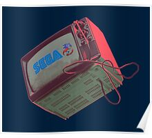 RETRO CRT - SEGA Sonic Poster