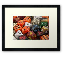 Fire and Blood Dice Framed Print