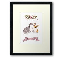 Dogginshield  Love 02 Framed Print