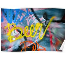 Abstract Graffiti Wall Art Photography - Have a Beer! Poster