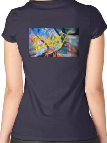 Abstract Graffiti Wall Art Photography - Have a Beer! Women's Fitted Scoop T-Shirt