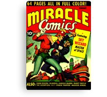 RETRO Golden Age Comic Book Cover Miracle Comics Canvas Print