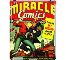 RETRO Golden Age Comic Book Cover Miracle Comics iPad Case/Skin
