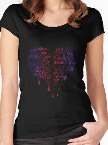 Heartbroken Typography Women's Fitted Scoop T-Shirt