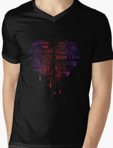 Heartbroken Typography Mens V-Neck T-Shirt