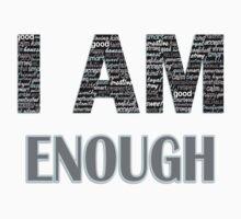 I Am Enough (Blue) by Lallinda