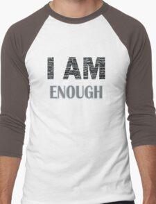 I Am Enough (Blue) Men's Baseball ¾ T-Shirt
