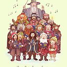 The loudest carollers in Middle Earth by AliciaMB
