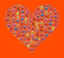 heart emoji Kids Tee