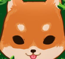 Shiba in a bush- This is fine Sticker