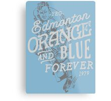 Orange & Blue Forever Metal Print