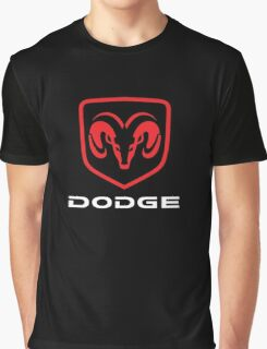 Dodge Ram Viper Challenger Charger Classic Logo Graphic T-Shirt