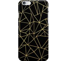 Abstraction Outline Gold on Black iPhone Case/Skin