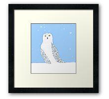 Snowy Snowy Owl Framed Print