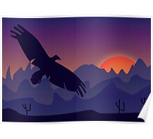 Thunderbird at Sunset Poster