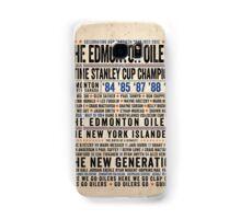The Edmonton Oilers Dynasty Poster Samsung Galaxy Case/Skin