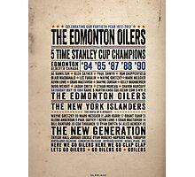 The Edmonton Oilers Dynasty Poster Photographic Print