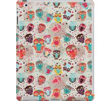 Owls on cream background iPad Case/Skin