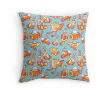 Sunny Submarines Throw Pillow
