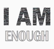 I Am Enough (Peach) by Lallinda