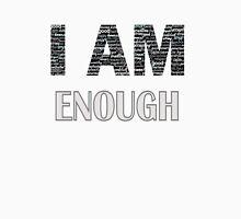 I Am Enough (Peach) Womens Fitted T-Shirt